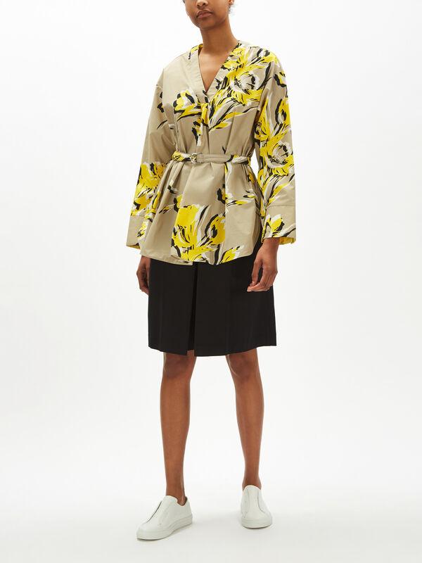 Tie Waist Floral Print Shirt