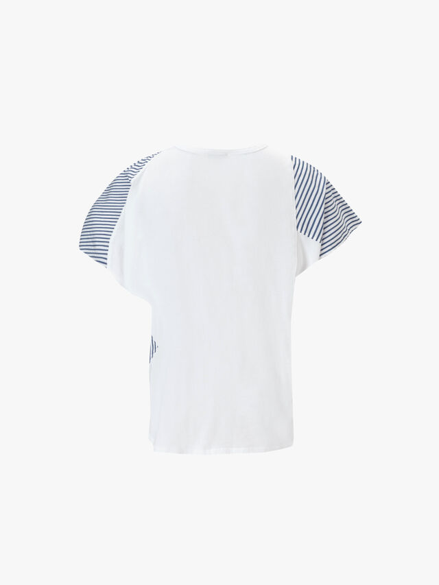 Mix Media Panelled Top