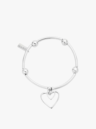 Noodle Ball Double Open Heart Bracelet