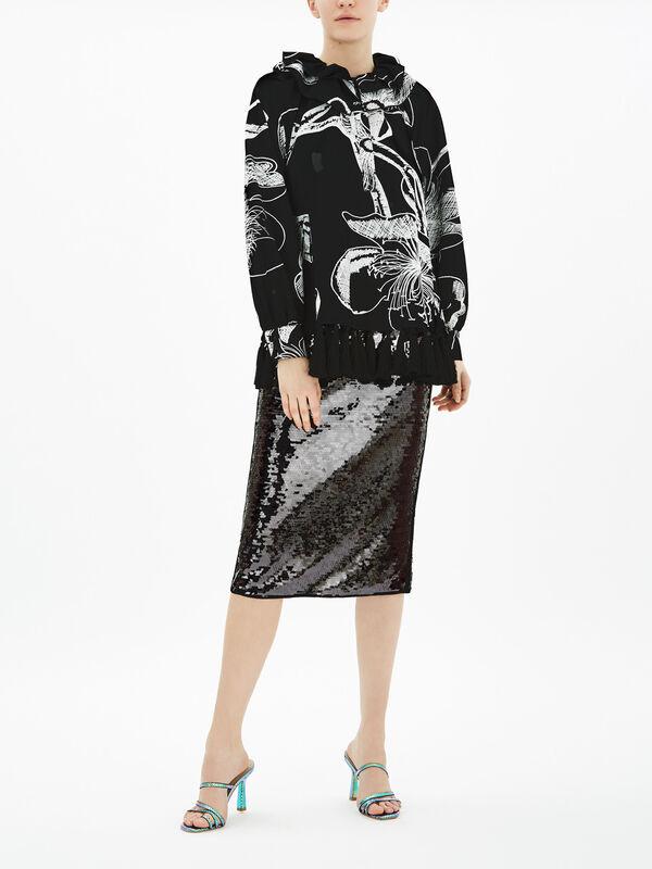 Flora Tassel Printed Shirt