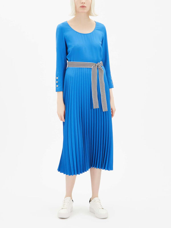 Xiria Pleated Midi Dress