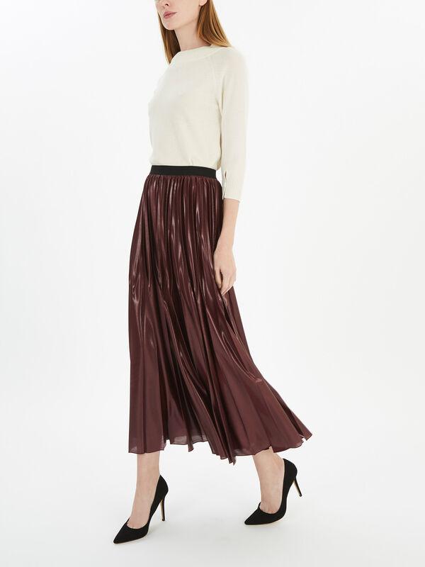 Super Jersey Pleated Midi Skirt