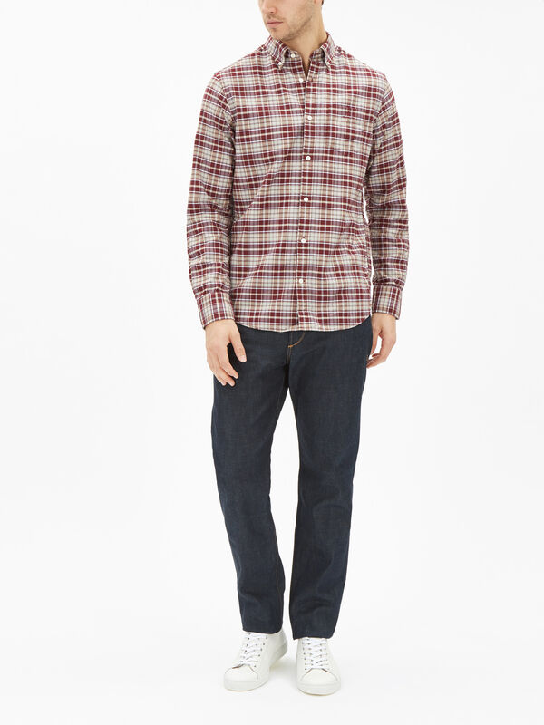Heather Oxford Checked Shirt