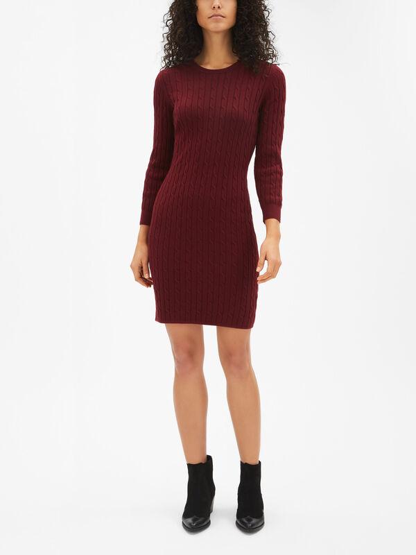 L/S Cable Knit Dress