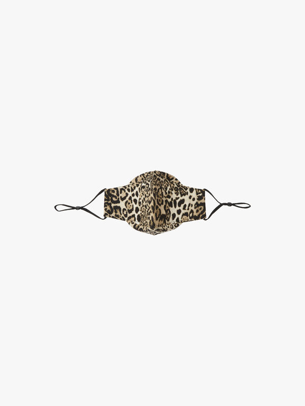Snow Leopard Print Mask