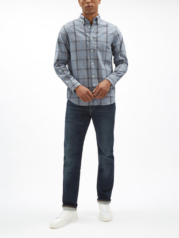 Heather Oxford Check Shirt