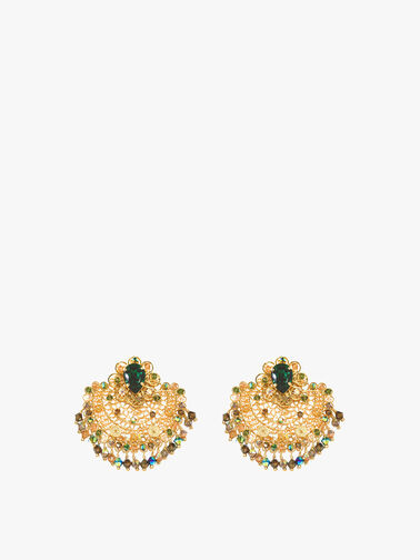 Filigree Earring Emerald