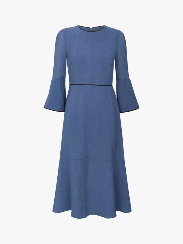 Flute Sleeve Maxi Dress