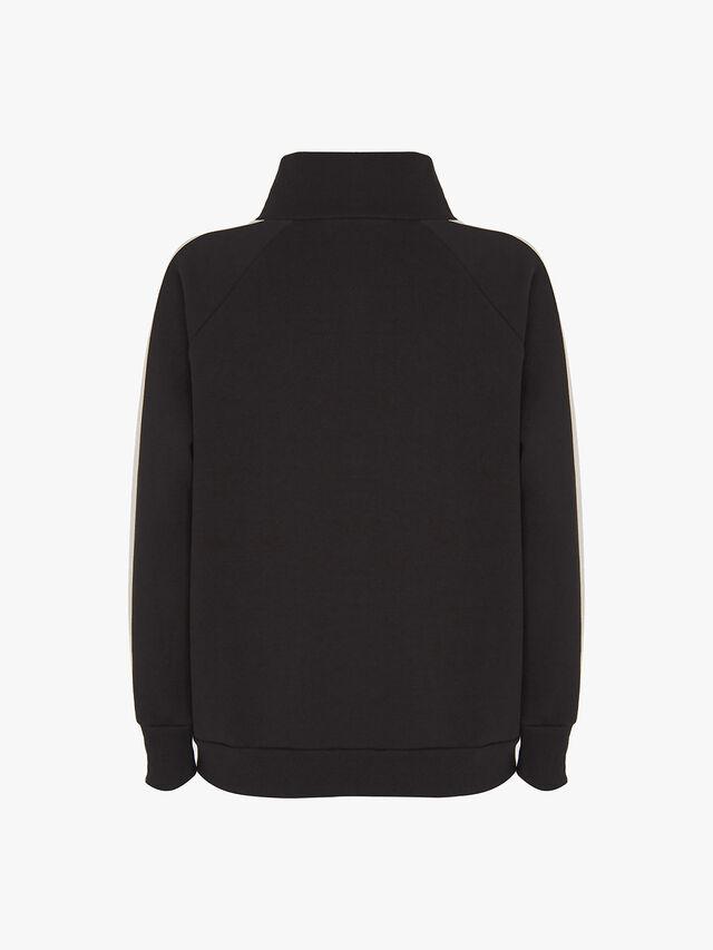 Black Side Stripe Sweatshirt
