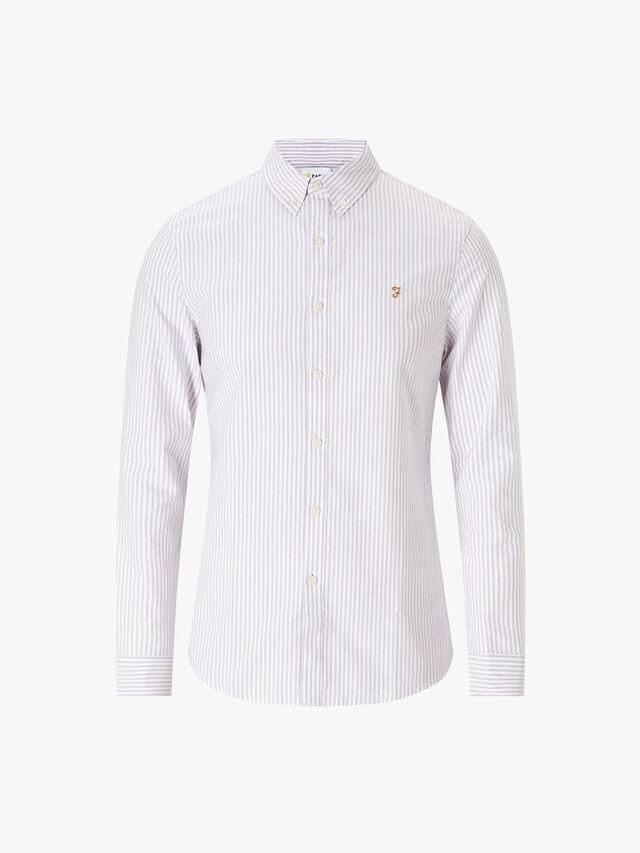 Brewer Slim Fit Stripe Oxford Shirt