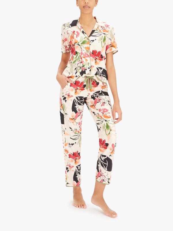 Natalie Peach Floral Print Pant