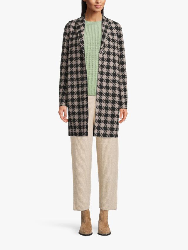 Wool Blend Cocoon Coat