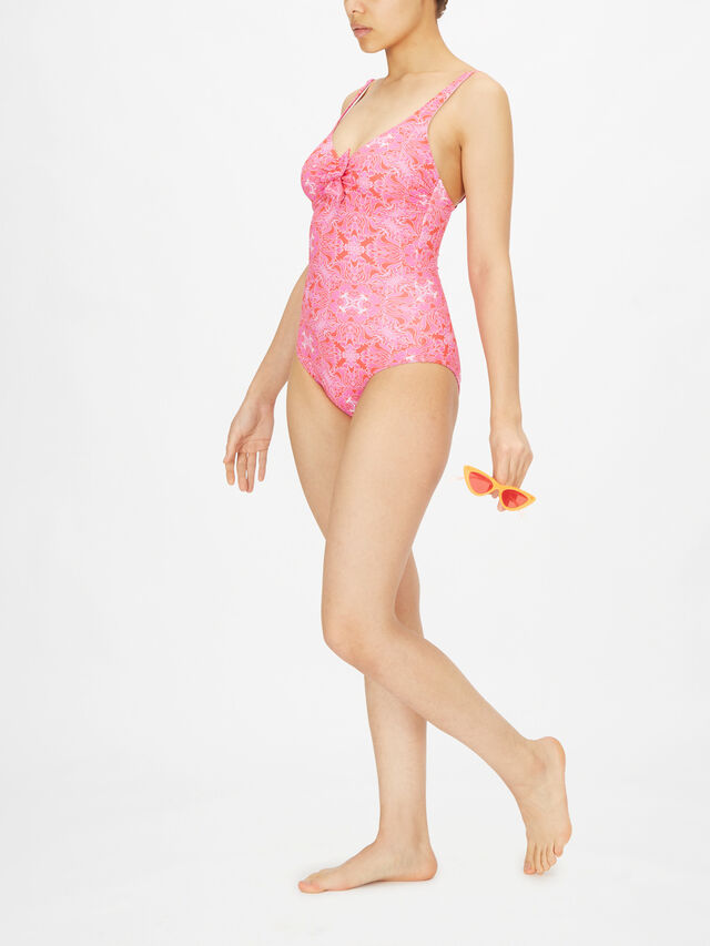 Lisbon Over The Shoulder Bow Swimsuit