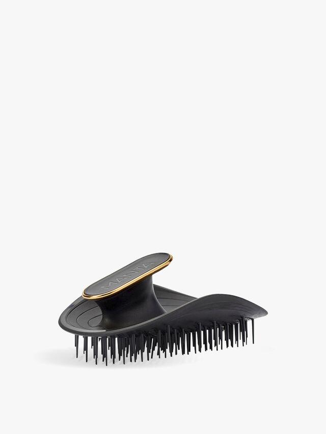The Manta Hairbrush Black