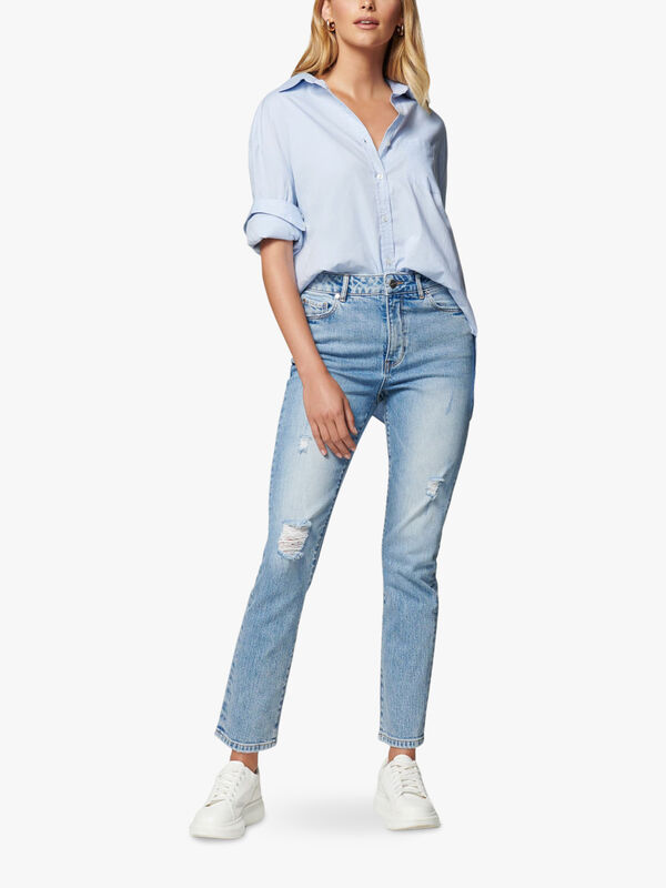 Isabel Mid Rise Straight Crop Jean