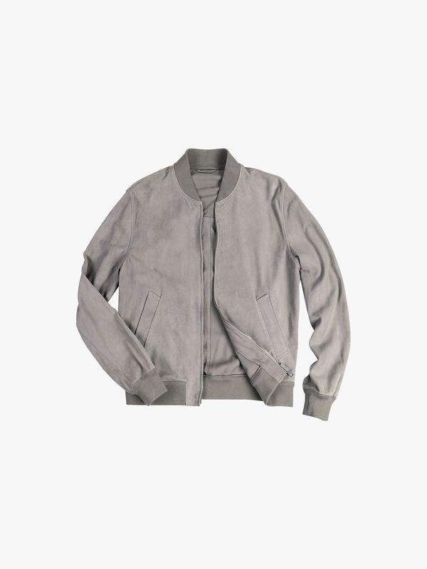 Bomber Unlined Leather Jacket