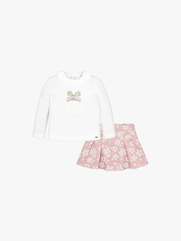 Floral Skirt and T-Shirt Set