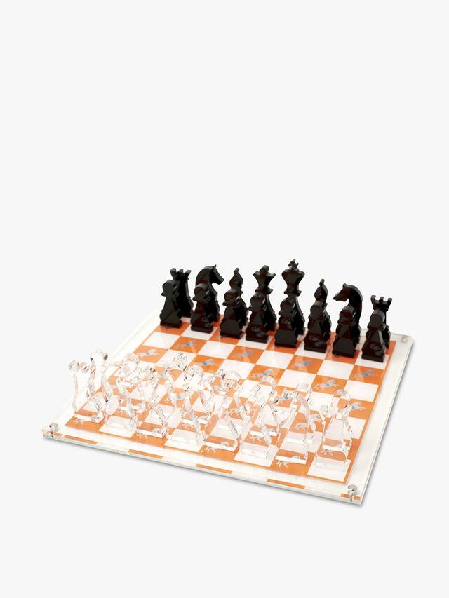 Horse Chess Set - Orange