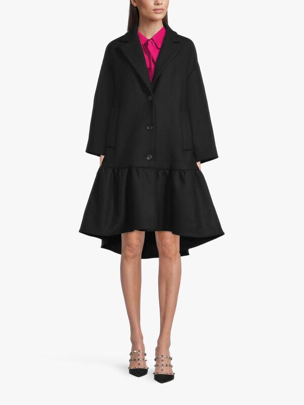 Peplum Cashmere Coat