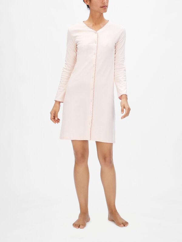Attitude Long Sleeve Button Through Night Dress
