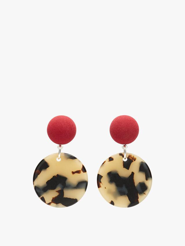 Circle Drop Clip Earrings