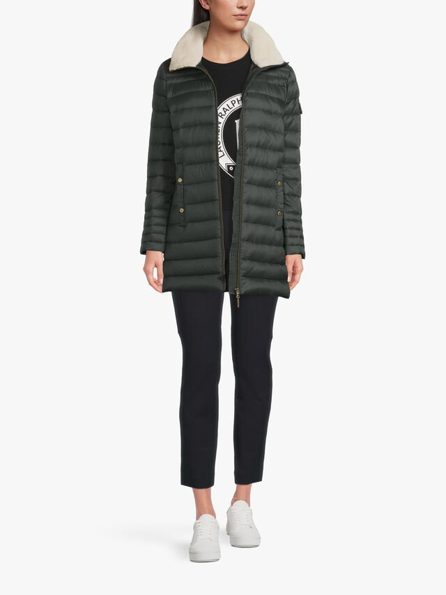 Collar Down Fill Padded Jacket