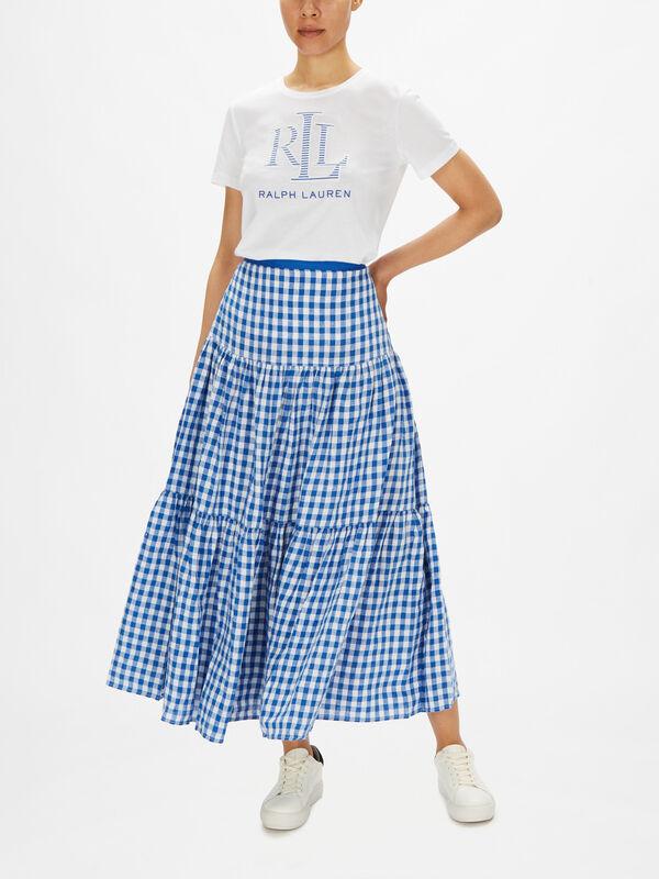 Halldora Gingham A Line Skirt