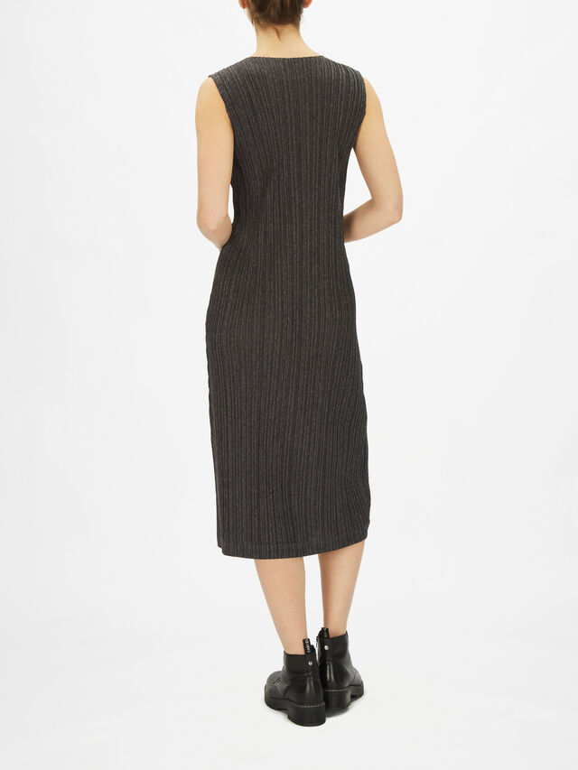 Ramie Pleats Sleeveless Dress