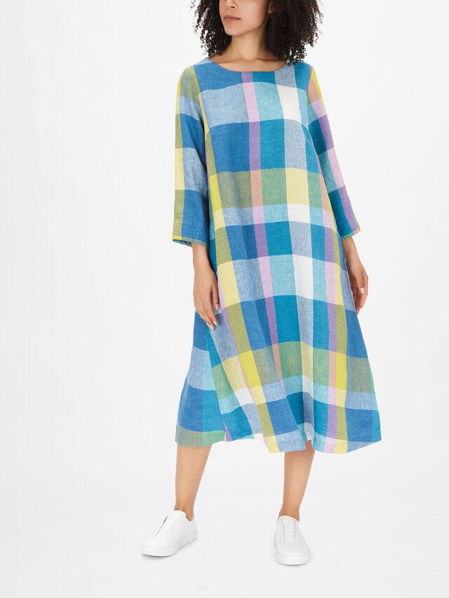 Madras Check A Line Dress