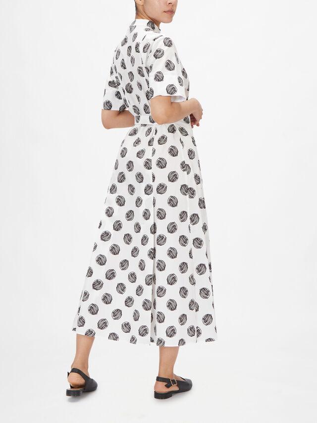 Spot Print Maxi Shirt Dress