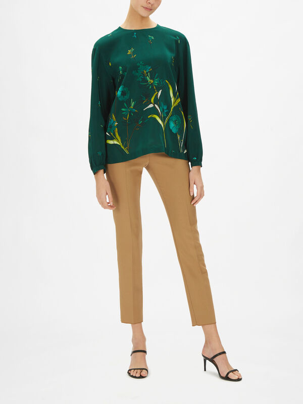 Azoto Silk Printed Blouse