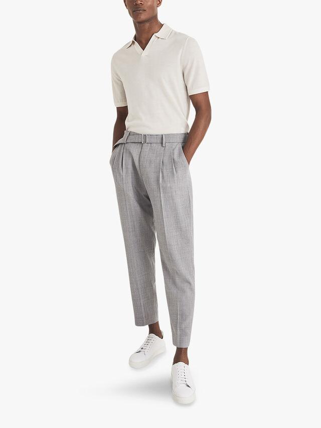 Duchie Merino Wool Open Collar Polo Shirt