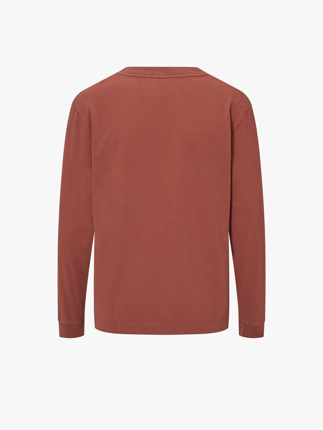 Wide Crew Neck Matte Jersey Sweat