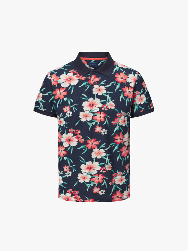 All Over Floral Piqué Rugger Polo Shirt