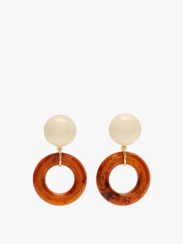 Large Open Circle Earrings