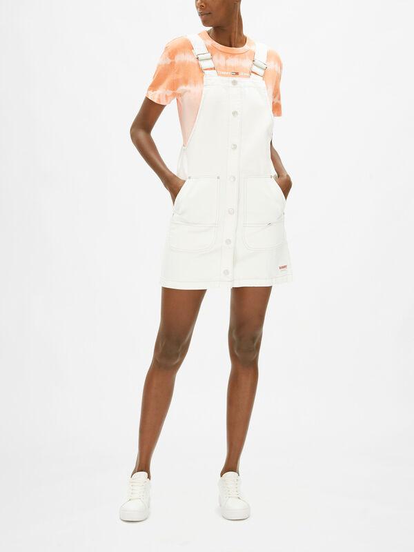 Short Dungaree Snap Dress