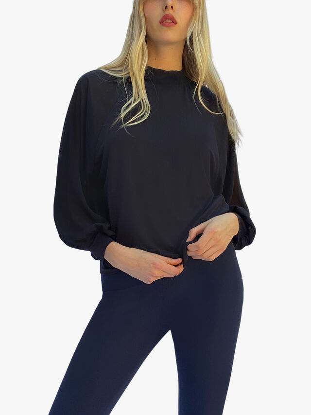 Noemi Jersey High Neck Top