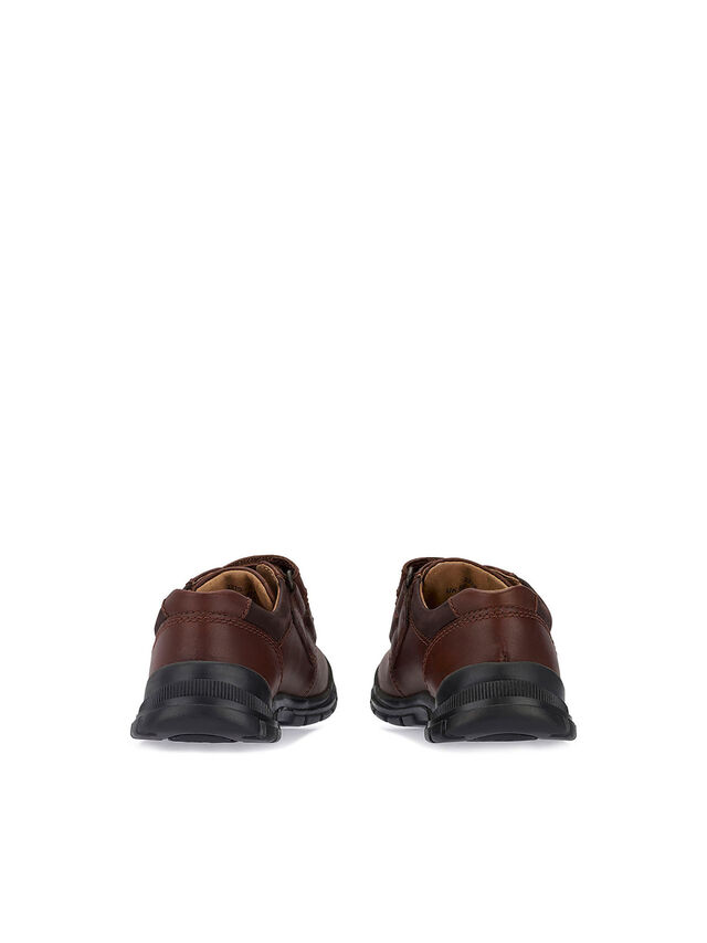 Engineer Brown Leather School Shoes