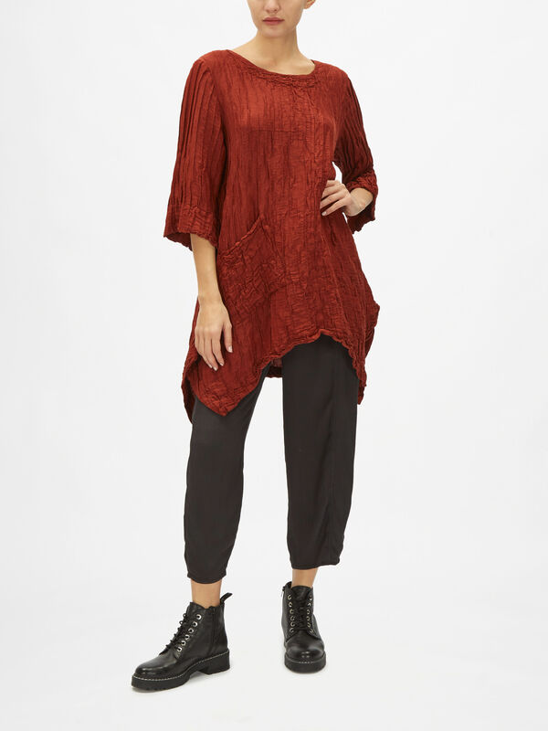 Crinkle Tunic with pocket