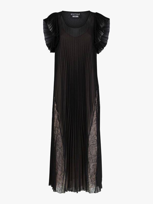 Frill Sleeve Tie Waist Midi Dress