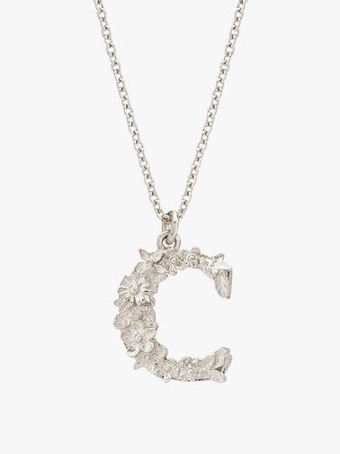 Floral Letter C Necklace