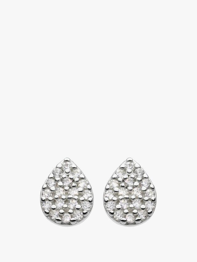 Small Tear Drop Stud Earrings