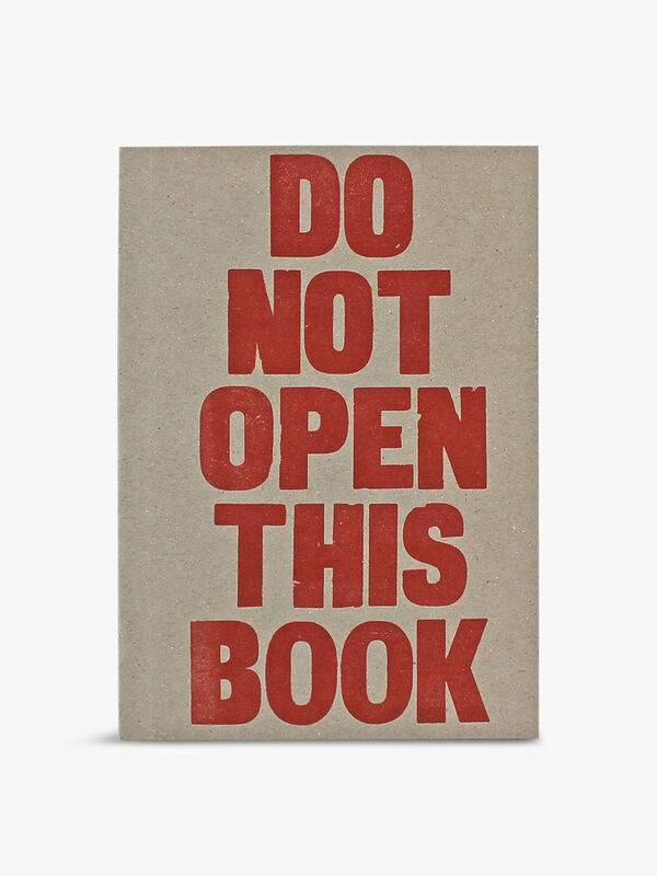 Letterpress Do Not Open Notebook