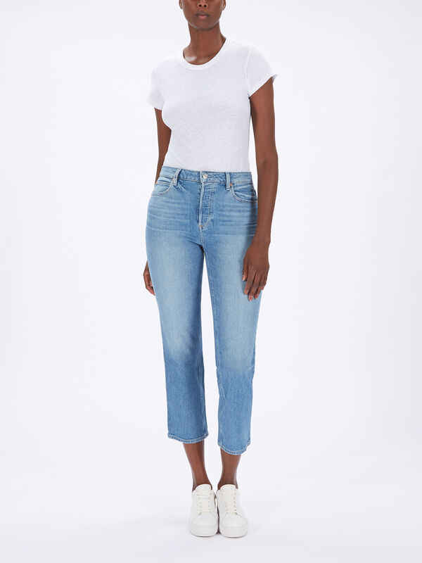Sarah Straight Ankle Jeans