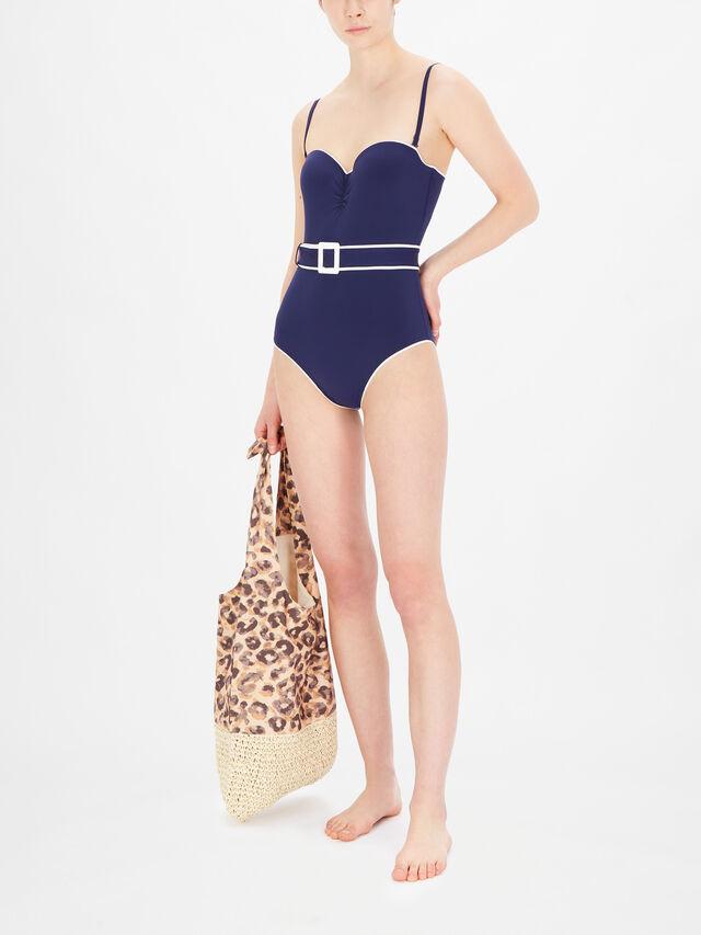 La Baie Des Vagues Padded One Piece Swimsuit