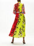 Pleated High Neck Maxi Dress