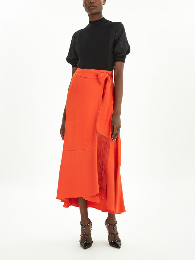 Viscose Satin Skirt