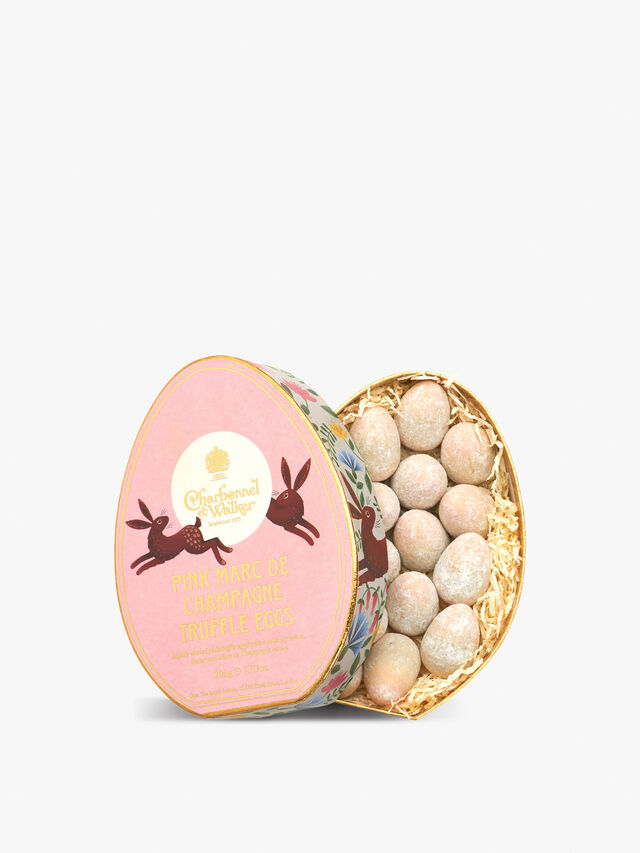 Pink Marc de Champagne Egg Shaped Truffles