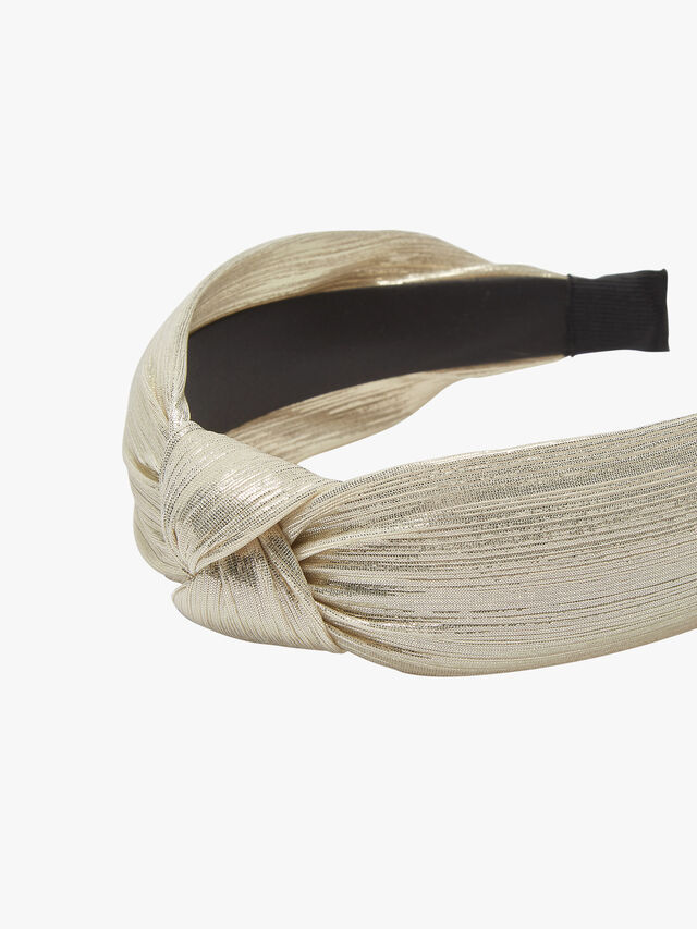 Knot Shiny Pleated Headband