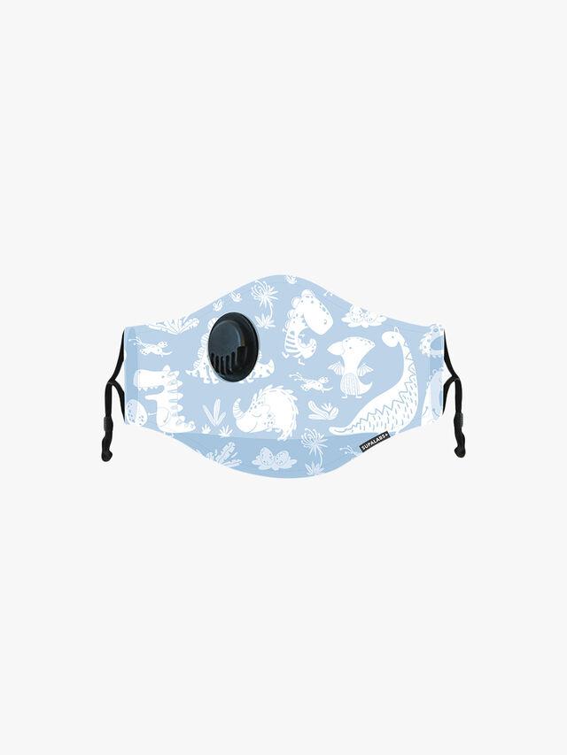 Kids Blue Dino Face Mask